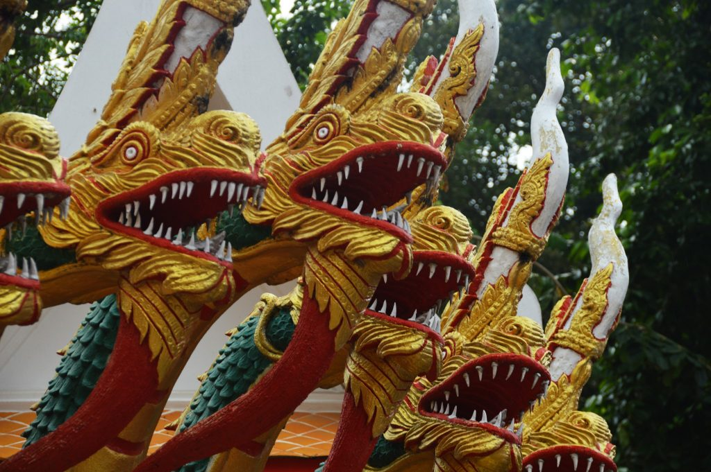 Dragon Stairs at Wat Phra Yai. Pattaya, Thailand, November 2016 © Luchia Houghton