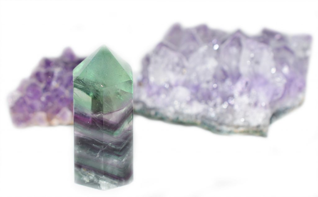 Fluorite and Amethyst February 17 © Luchia Houghton