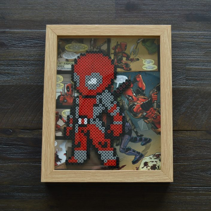Hama Bead Art, Deadpool, Marvel
