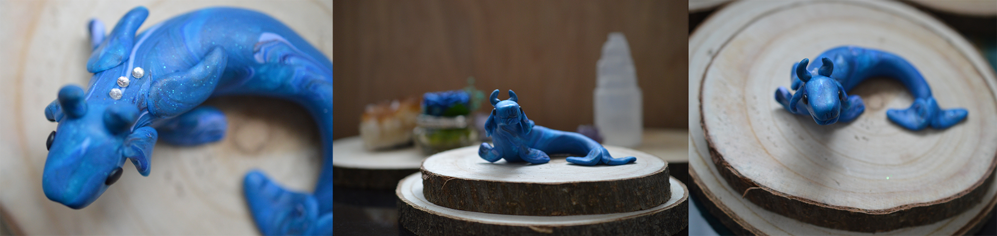 Blue Polymer Clay Dragon